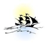 Barca del pirata illustrazione di stock