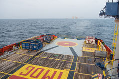 Barca del rifornimento Fotografia Stock Libera da Diritti