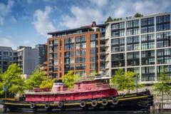 Barca del rimorchiatore di Daniel McAllister Fotografie Stock Libere da Diritti