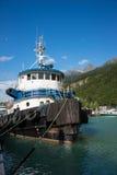Barca del rimorchiatore, Skagway, Alaska Fotografie Stock