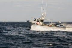 Barca dell'aragosta sull'Atlantico fotografie stock libere da diritti