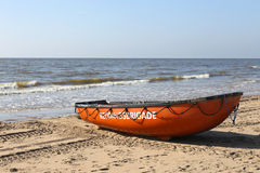 Barca dell'associazione olandese del bagnino Immagini Stock