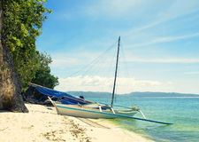 Barca dell'isola fotografia stock libera da diritti