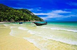 Barca dell'isola fotografie stock libere da diritti