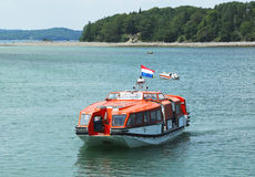 Barca dell'offerta di Holland America Cruise Ship Maasdam Fotografia Stock