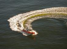 Barca della guardia costiera in acqua Fotografia Stock Libera da Diritti