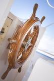 Barca della piattaforma di passeggiata Fotografia Stock