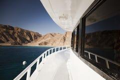Barca della piattaforma di passeggiata Fotografia Stock Libera da Diritti