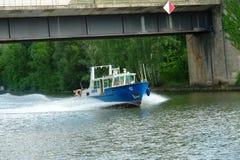 Barca della polizia Immagini Stock Libere da Diritti