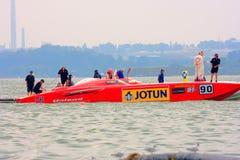 Barca della squadra Jotun 90 a codice categoria uno immagine stock libera da diritti