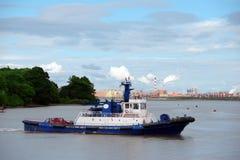 Barca della tirata dello shannon del fiume Fotografia Stock Libera da Diritti