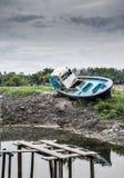 Barca di abbandono Immagine Stock