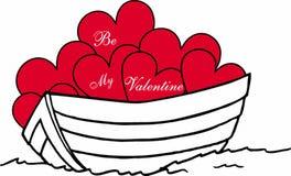 Barca di amore Fotografia Stock