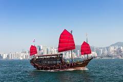 Barca di Aqua Luna Fotografia Stock Libera da Diritti