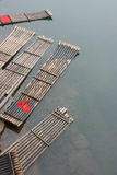 Barca di bambù Fotografia Stock