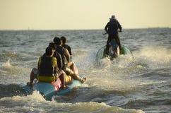Barca di banana fotografie stock