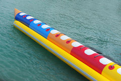 Barca di banana sulla spiaggia Immagine Stock Libera da Diritti