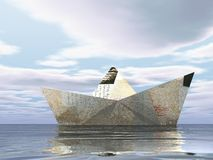 Barca di carta 1 Fotografie Stock