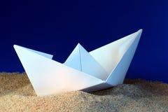 Barca di carta Fotografie Stock Libere da Diritti