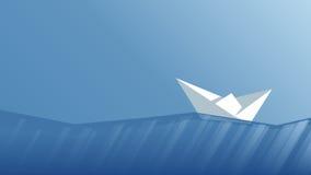 Barca di carta di vettore Fotografie Stock Libere da Diritti