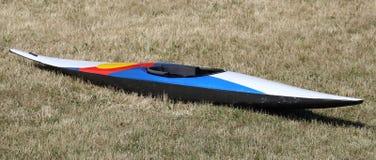 Barca di competetion di slalom della canoa Immagine Stock Libera da Diritti
