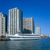 Barca di crociera al porto di Toronto Fotografia Stock