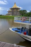 Barca di crociera di lungomare di Kuching Fotografia Stock Libera da Diritti