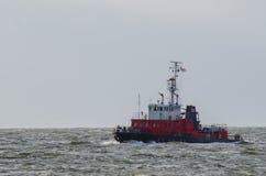 Barca di estinzione di incendio Fotografie Stock