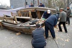 Barca di fabbricazione Immagine Stock Libera da Diritti