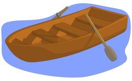 Barca di fila Fotografie Stock