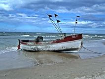 Barca di Fisching Immagine Stock