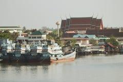 Barca di fiume immagini stock