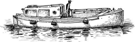 Barca di fiume Fotografie Stock Libere da Diritti