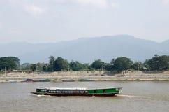 Barca di fiume, nave passeggeri Immagine Stock Libera da Diritti
