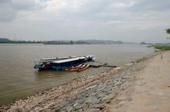 Barca di fiume, nave passeggeri Immagine Stock