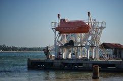 Barca di fuga Fotografia Stock
