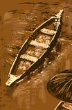 Barca di galleggiamento del mercato in Tailandia Fotografia Stock Libera da Diritti