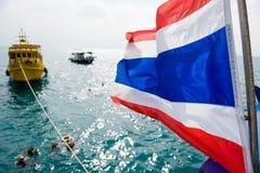 Barca di immersione con bombole della Tailandia Fotografia Stock Libera da Diritti