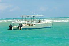 Barca di immersione subacquea. Fotografia Stock