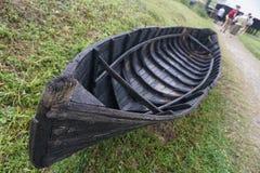 Barca di legno al complesso del museo nazionale immagini stock libere da diritti