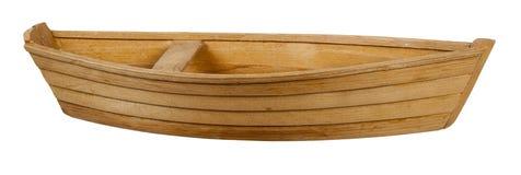 Barca di legno con il banco Immagine Stock