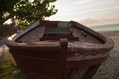 Barca di legno di danno Immagini Stock Libere da Diritti