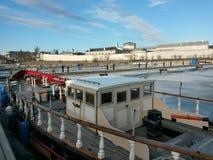Barca di legno in Kingston Harbour Penitentary Fotografia Stock Libera da Diritti