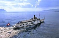 Barca di Leman Fotografie Stock