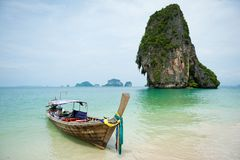 Barca di Longtail in Tailandia Immagine Stock