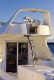 Barca di lusso in porto Fotografia Stock Libera da Diritti
