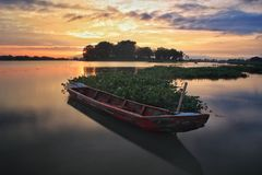 Barca di mattina Fotografie Stock