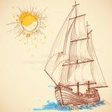Barca di navigazione Fotografie Stock