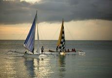 Barca di navigazione due immagine stock libera da diritti