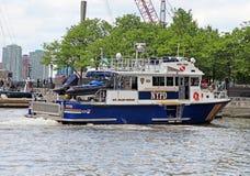 Barca di NYPD Fotografia Stock